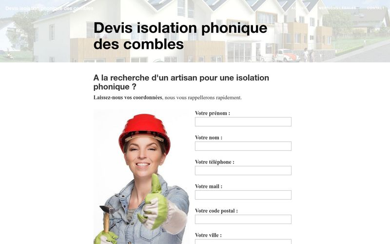 Obtenir un devis d'isolation phonique des combles